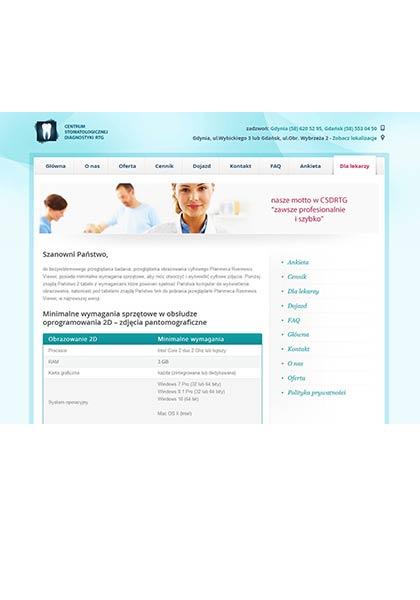 strona internetowa - rtg zębów